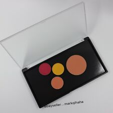 MEDIUM black customized MAGNETIC clamshell makeup palette w/transparent cover