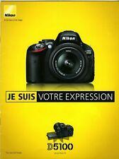 NIKON brochure pub. D5100 édition 04/2011 en français