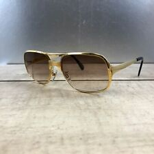 METZLER GERMANY 7610 Authentic Vintage Gold Sunglasses Great con! Super Rare!!