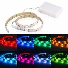 4.5V Battery Operated 50CM RGB LED Strip Light Waterproof Craft Hobby Light US