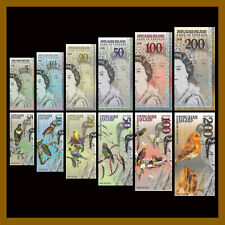 Pitcairn Islands 5 - 200 Dollars (6 Pcs Set), 2019 Matching S/N QEII Polymer