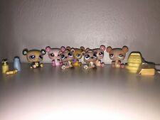 7 Littlest Pet Shop bears, Baby bears 5 accessories Lps Pands Toy Kids Play