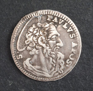1746, Vatican, Pope Benedict XIV. Beautiful Silver Grosso Coin. VF+
