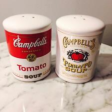Campbell's Tomato Soup Can Salt and Pepper Shakers 2000