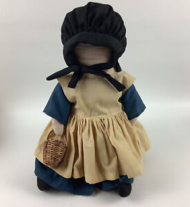 Amish Doll Handmade With Signature 11 inches Tall with tag