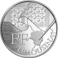 """10 Euro des régions Argent 2010 Limousin  """" Drapeaux """""""