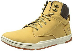 CAT Caterpillar Colfax Mid Boots Mens Suede Leather Honey Reset Lace Up Trainers