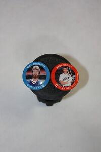 2x-1984 Fun Foods Metal Baseball Button>43-Wade Boggs 32-Rick Sutcliffe Sox Cubs