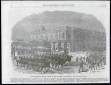 1869 ANTIQUE PRINT-Cuba Governors Palace Havane Volunteer Insurrection (189)