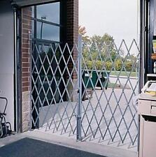 Folding Security Gate 12'W x 6-1/2'H Double Expandable Basement Steel Fence Door