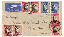 Zz103 1937 Durban, South Africa to France/Airmail {samwells-covers}