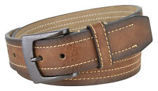 New Mexico Gun Metal Buckle Men's Leather Belt  1.5