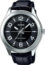 Casio MTP-VX01L-1B Men's Standard Leather Band Big Case Black Dial Watch