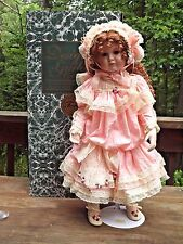 "Patricia Loveless Designer Guild Porcelain 27"" Doll Gretchen 1997 Stand Box"
