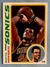 1978-79 Topps Basketball #19 Marvin Webster Seattle Sonics
