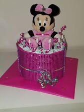 ♥ Windeltorte für Mädchen ★ Minnie Maus ♥ Glitzerband