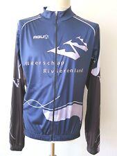 AGU Bike Wear Men's Waterschap Rivierenland Cycling Overshirt Jacket Size L NEW