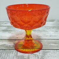 Noritake Perspective Glass - Pedestal Champagne Dessert Sherbet Bowl - Tangerine
