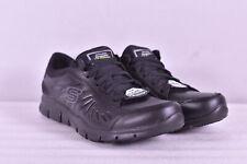 Women's Skechers Eldred Lace Up Work Sneakers, Black, 9M