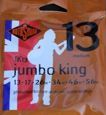 Rotosound JK13 Phosphor Bronze Acoustic Guitar Strings 13-56 By Guitars Wales