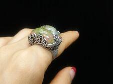 Jade Ring Size Adjustable Korean Traditional Hanbok Handmade Accessory 한복반지 3065