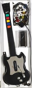 Playstation 2 PS2 Guitar Hero Red Octane SG Gibson Silver Black Wired Controller