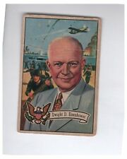 1956 U.S. Presidents Collector Series Dwight D. Eisenhower Card # 36
