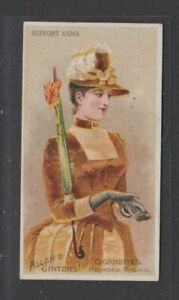 CIGARETTE CARDS Allen & Ginter 1886 Parasol Drill - #46 Support Arms