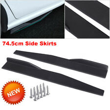 74.5cm Car Carbon Fiber Side Skirt Rocker Splitters Diffuser Winglet Wings Black