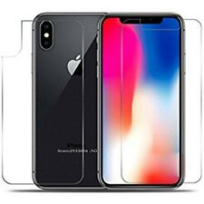 For Apple iPhone X Clear Front and Back Cover Tempered Glass Screen Protector uk