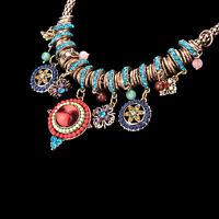 New Gypsy Ethnic Tribal Turkish Boho Chains Bid Necklaces Tassel Pendant ^D