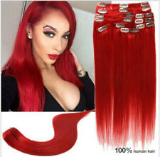 Color Mixed Clip In Hair Remy Real Hair Extension 100% Human Hair Extensions Hot