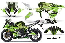 Street Bike Graphics Kit Decal Wrap For Kawasaki Ninja ZX6R 636 13-16 CARBONX G