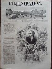 L' ILLUSTRATION 1843 N 43 HOMMAGE AU POETE CASIMIR DELAVIGNE - LES MESSENIENNES