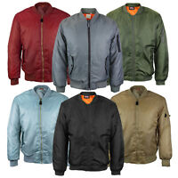 Men's Multi Pocket Padded Stylish Zip Up MA-1 Flight Bomber Jacket