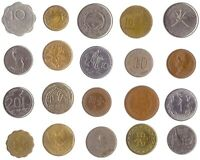 20 COINS FROM DIFFERENT ASIAN COUNTRIES. OLD VALUABLE COLLECTIBLE COINS.