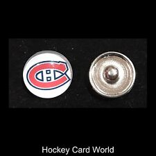 (HCW) Montreal Canadiens NHL Snap Ginger Button Jewelry for Jackets, Bracelets.