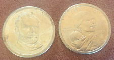 2000 P Sacagawea One Dollar US Liberty Coin & Ulysses S. Grant Presidential $1