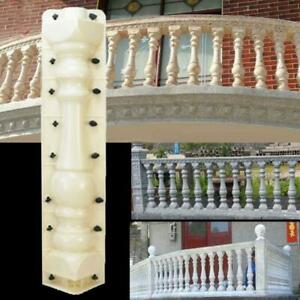 1Set Roman Column Balcony Garden Pool Fence Cement Railing Plaster Concrete Mold