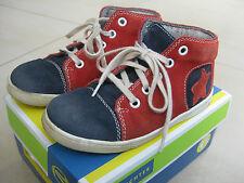 Kinderschuhe Richter 26 Knöchelhoch blau rot weiß Stern Schnürsenkel Sneaker