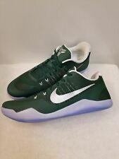Nike Kobe XI TB Promo Basketball Shoes Green Metallic Silver SZ 14 856485-331