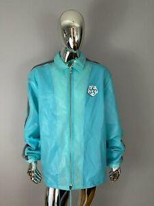 NWOT Pink Dolphin Blue Graphic Windbreaker Rain Jacket Size 4XL