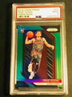 TRAE YOUNG 2018 PANINI PRIZM #78 GREEN REFRACTOR ROOKIE RC PSA 9 HAWKS NBA (D)