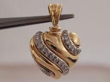 .48 tcw Diamond D/VVS High End Puffy Heart Pendant 18k Gold Designer 750 Lovely
