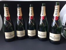 5 Moët Chandon Brut Imperial 0,75 Champagne Bottles Empty Decorative Shisha Bar Lamp
