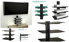 3 Floating Shelves Large Wall Mount Tempered Glass TV Accessories DVD Player New