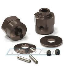 Alloy +5mm Offset Hex Wheel Hub Set for Axial Wraith 90018 90020 90031 Gunmetal