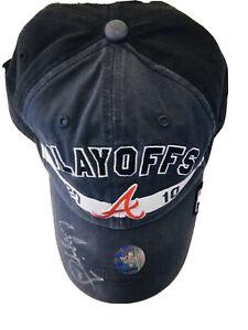 Chipper Jones Signed  2010 Postseason Hat