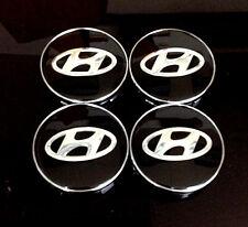 Wheel Center Caps 60mm Badge Set 4pcs Hyundai