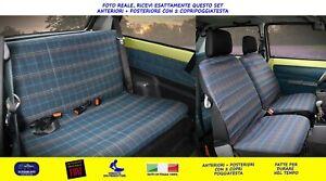Coprisedili Fiat Panda 900 750 650 1100 4x4 fodere tessuto originale sedile set